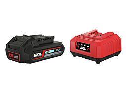 "SKIL 3110 AA Litij-ionska akumulatorska baterija (""20V Max"" (18 V) 2,5 Ah ""Keep Cool"") in polnilnik"