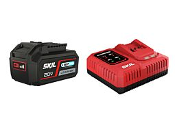 "SKIL 3111 AA Litij-ionska akumulatorska baterija (""20V Max"" (18 V) 4,0 Ah ""Keep Cool"") in polnilnik ""Rapid"""