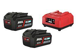 "SKIL 3112 BA Akumulatorske baterije (litij-ionske akumulatorske baterije ""20V Max"" (18 V) 4,0 Ah ""Keep Cool™"") in polnilnik"