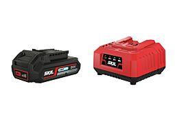 """SKIL Litij-ionska akumulatorska baterija (""""20V Max"""" (18 V) 2,0 Ah """"Keep Cool™"""") in polnilnik"""
